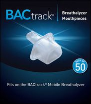 BACtrack Breathalyzer Mouthpieces, 50-Pack for Mobile