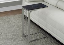 Monarch Specialties Accent Table - Cappuccino/Champagne