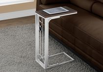 Monarch Specialties Accent Table - Cherry/Antique White
