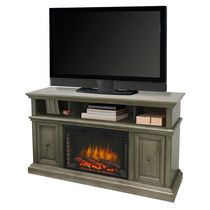 "Muskoka McCrea 58"" Dark Weathered Grey Finish Media Electric Fireplace"