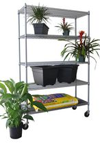 "TRINITY 5-Tier Outdoor Wire Shelving Rack | 48"" x 18"" x 72"" 