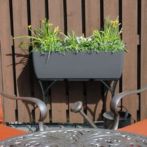 "RTS Home Accents Elevated Urban Planter with Stand Graphite 30"" x 10"""