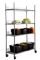"TRINITY EcoStorage™ 4-Tier Wire Shelving Rack | 48"" x 18"" x 72"" 