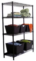 "TRINITY 4-Tier Indoor Wire Shelving Rack | 36"" x 14"" x 54"" 