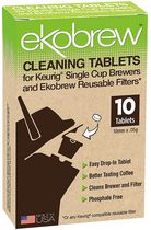 Ekobrew Cleaning Tablets for Keurig® Single Cup Brewers and Ekobrew Reusable Filters - 10 Tablets