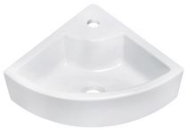 American Imaginations 19 inch width x 19 inch depth Above Counter Round Vessel In White Color For Single Hole Faucet