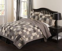 hometrends Printed Patchwork Quilt Set - Double/Queen King
