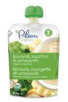 Plum® Organics Plum Banana Zuchinni & Amaranthe Baby Food - 128mL