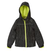 Athletic Works Boys' Insulated Hooded Jacket Black S/P