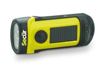 Secur Waterproof Hand Crank Built-In Solar Flashlight