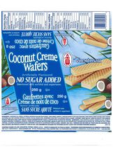 Voortman Coconut Crème Wafers, No Sugar Added