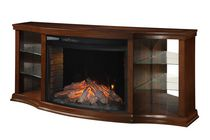 "Muskoka Electric Fireplace with 33"" Curved Full View Insert, Cherry"