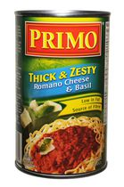 Primo Thick and Zesty Romano Cheese and Basil Pasta Sauce