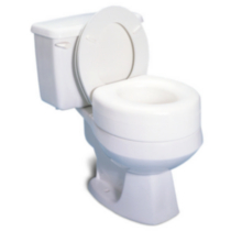 Profilio Portable Raised Toilet Seat, White, 4 Inch