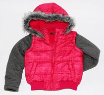George Girls' Fooler Vest Jacket Pink 6X