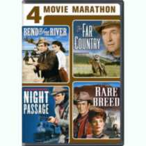 4-Movie Marathon: James Stewart Western Collection - Bend Of The River / The Far Country / Night Passage / The Rare Breed