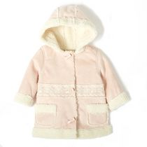 George baby Girls' Faux Suede Coat Pink 18-24 months