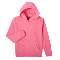 George Girls' Popover Fleece Hoody Pink M/M