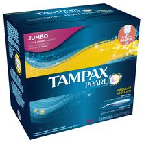 Tampax Pearl Plastic, Unscented Regular Absorbency  Tampons