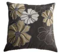 Faux Suede Floral Cushion