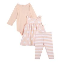 George baby Girls' 3-Piece Jumper Set Pink 3-6 months