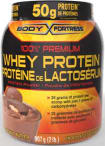 Body Fortress Whey Protein Powder Chocolate Peanut Butter 2lb
