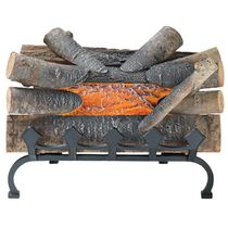 Pleasant Hearth 20 Inches Electric Crackling Fireplace Log with Grate