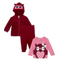 George baby Girls' 3-Piece Microfleece set 18-24 months