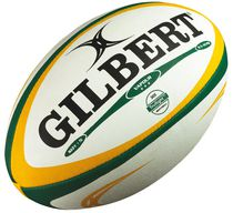 Gilbert Size 5 Green/Gold Vapour Rugby Ball