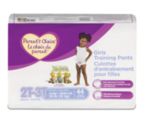Parent's Choice Training Pants - Girl (Choose Your Size) 2T-3T