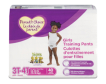 Parent's Choice Training Pants - Girl (Choose Your Size) 3T-4T