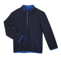 Athletic Works Boys' Popover Fleece Sweater Navy 5