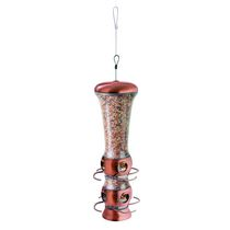 Perky-Pet Select-A-Bird Tube Copper Finish Feeder
