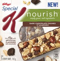 Kellogg's Special K Nourish Dark Chocolate Chunks & Almond Chewy Bars, 5 bars, 165g