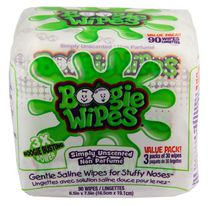 Boogie Wipes Gentle Saline Nose Wipes - Unscented, 90 Count