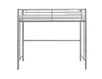 Walker Edison Twin Metal Loft Bed - Silver