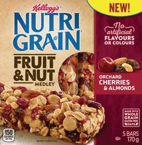 Kellogg's Nutri-Grain Fruit & Nut Medley Orchard Cherries and Almonds Bars