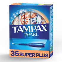 Tampax Pearl Plastic Super Plus Absorbency Unscented Tampons