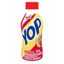 Yop by Yoplait Strawberry/Banana Flavour Drinkable Yogurt