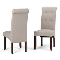 WyndenHall Essex 2 Pack Deluxe Tufted Parson Chair Natural