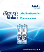 AAA Alkaline Battery 2 Pack