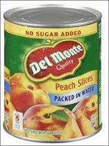 Del Monte® Sweetened Packed In Water Peach Slices