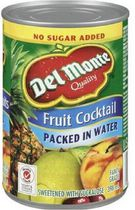Del Monte® Sweetened Packed in Water Fruit Cocktail