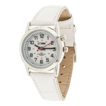 Globlu Ladies Easy Read White Strap Analog Watch