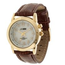 Globlu Ladies Easy Read Brown Strap Analog Watch