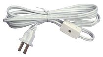 Atron Electro Industries 6 Inch White lamp cord with Switch