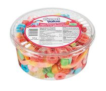 Great Value Sour Gummy Treats Candy Tub, 525 g