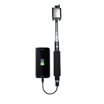CTA Digital Bluetooth Selfie Stick with Built-In Power Bank
