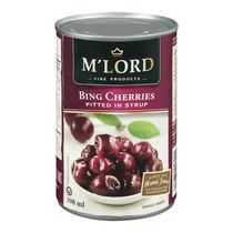 M'Lord Pitted in Syrup Bing Cherries