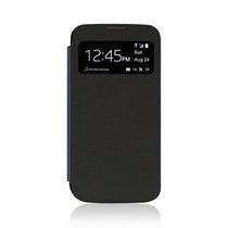 Gel Grip S4WBK - Samsung S4 Black Flip Case with Window